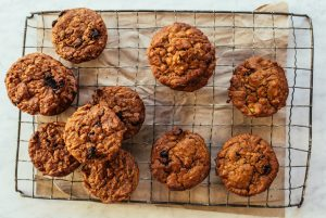 Olive Oil Carrot Muffins