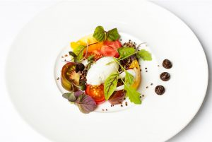Quinoa and Tomatoes with Goat Cheese Mousse