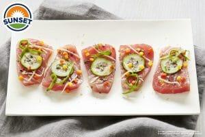 Mediterranean Inspired Tuna Crudo
